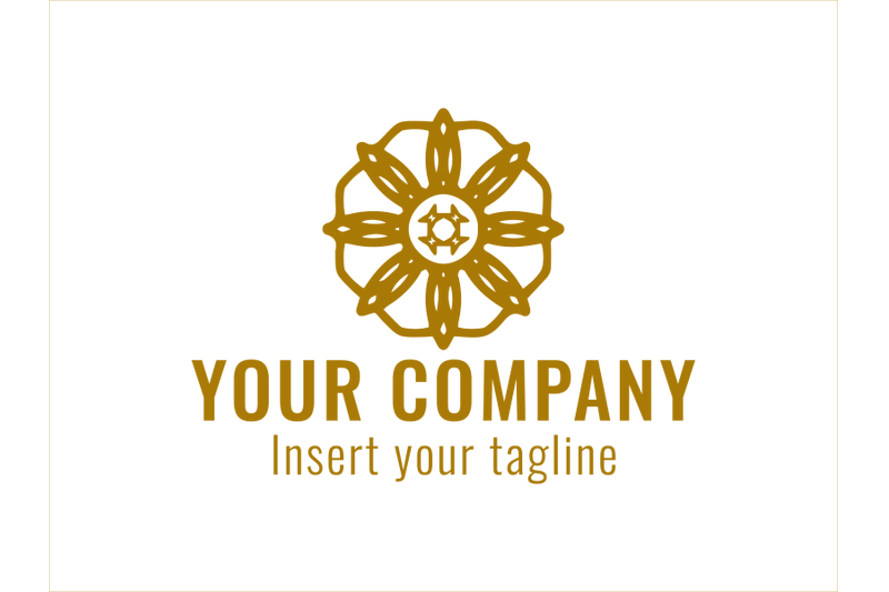 logo-gold-ornament-octagonal-line