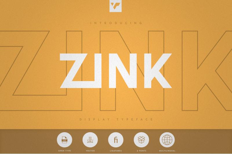 zink-display-typeface