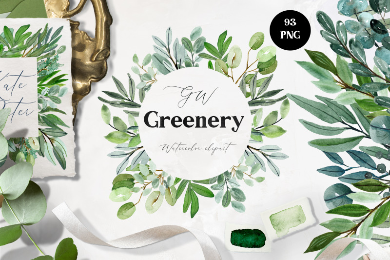 watercolor-greenery-amp-frames-clipart