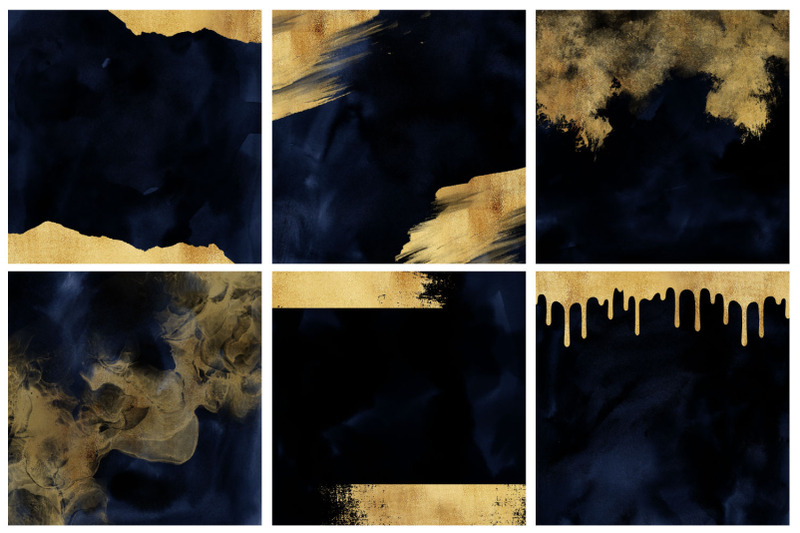 navy-amp-gold-watercolor-and-foil-digital-papers