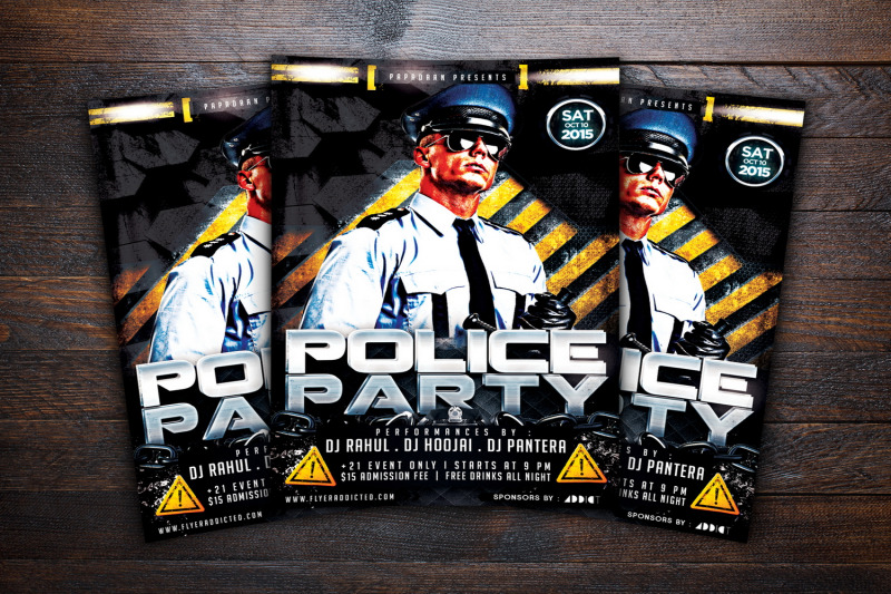 police-party-flyer