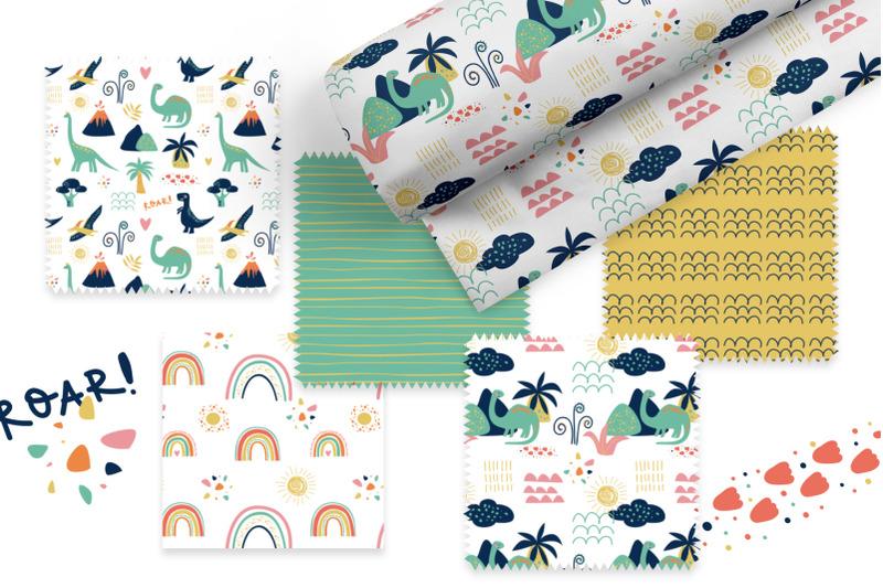 dino-patterns-digital-paper