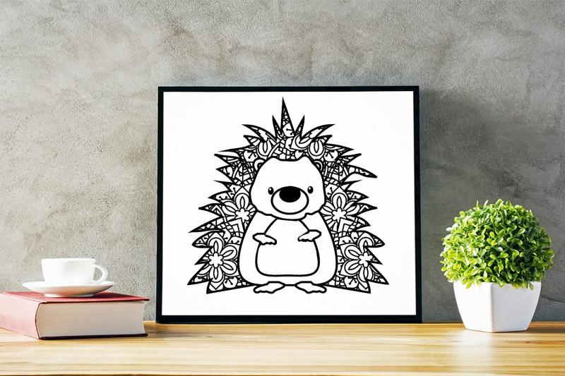 cute-hedgehog-out-of-mandala-svg-cut-file