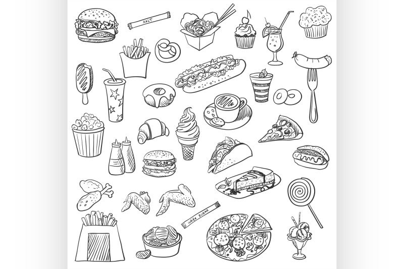 doodle-icon-fast-food