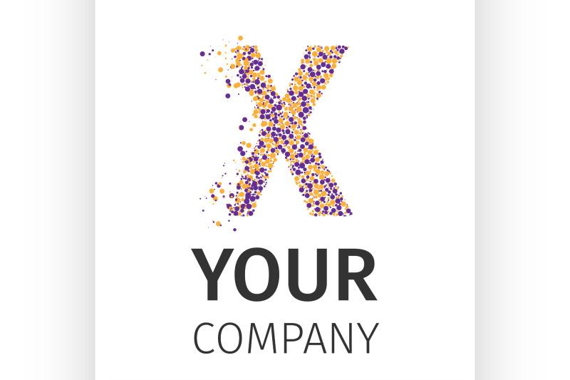 alphabet-particles-logotype-letter-x