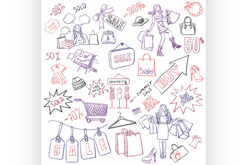 shopping-doodles-sale-hand-drawn-style