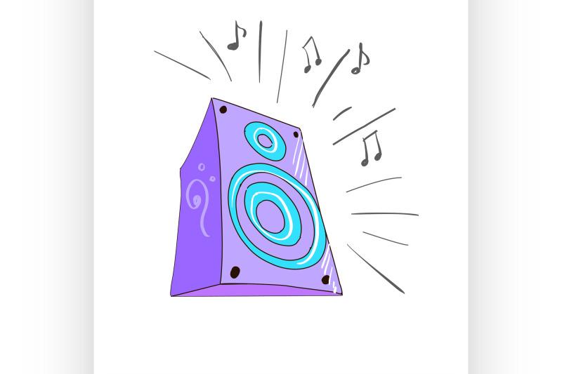 colored-doodle-speaker