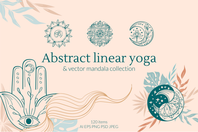 abstract-linear-yoga-and-vector-mandala-collection