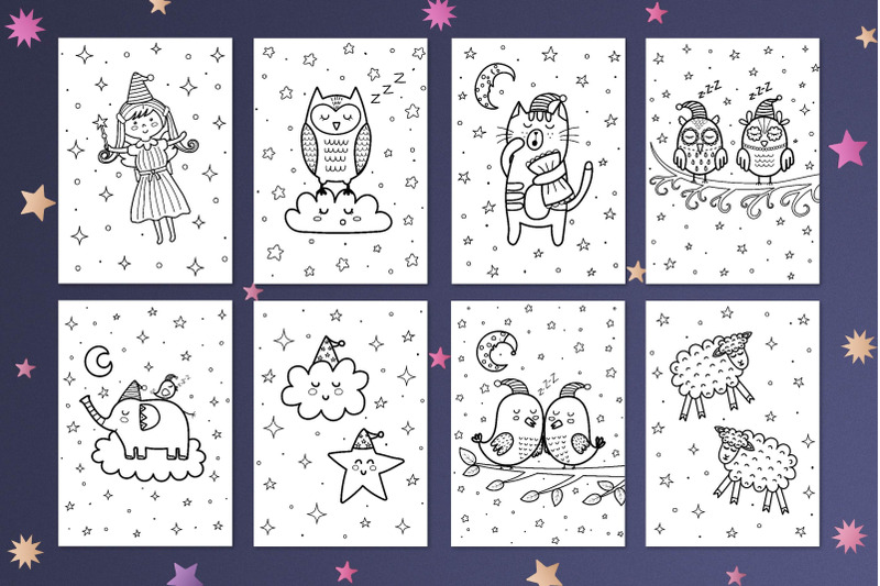 good-night-coloring-pages