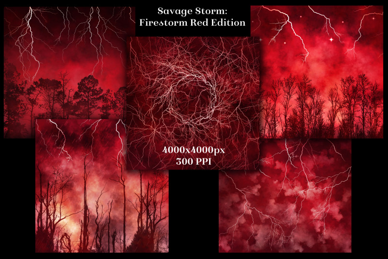 savage-storm-firestorm-red-edition-backgrounds-set