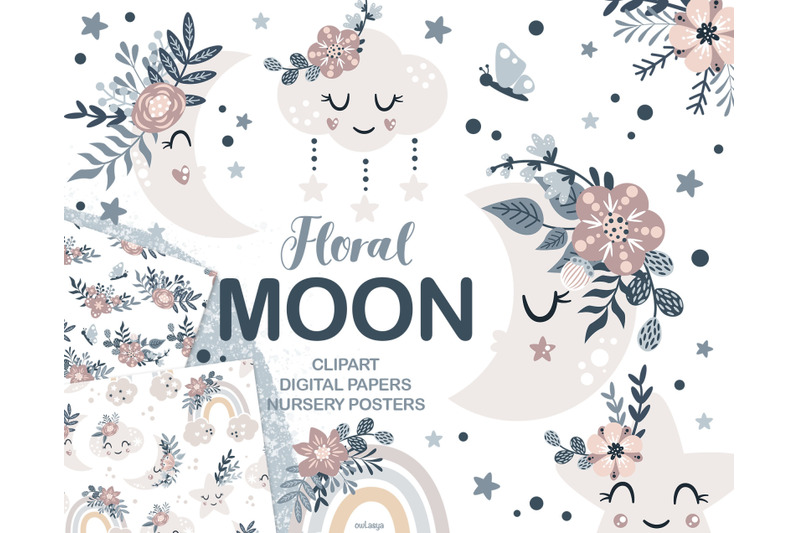 floral-moon