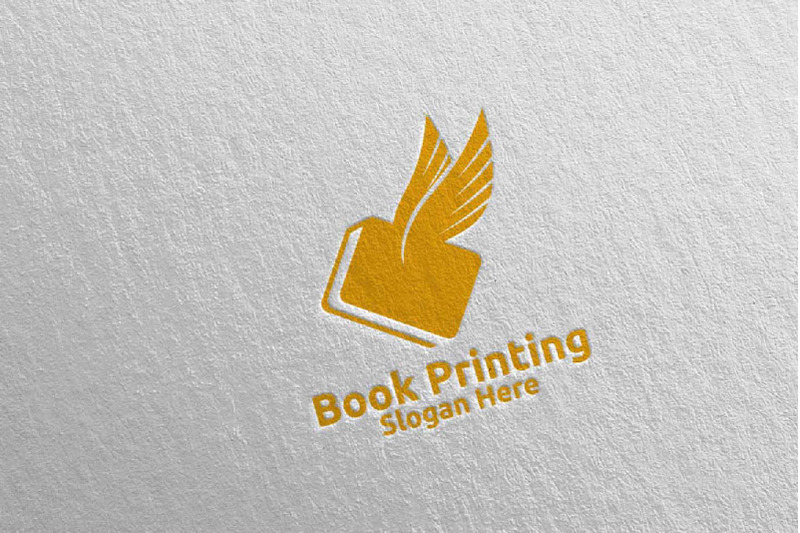 flying-fast-book-printing-company-logo-design-93
