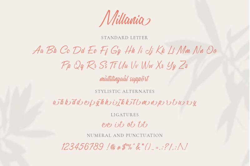 millania-modern-script-font