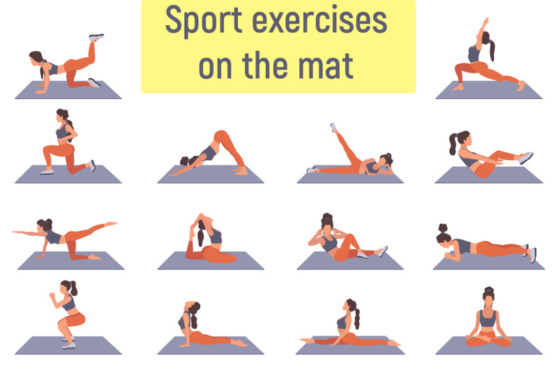 flat-illustrations-with-woman-sport