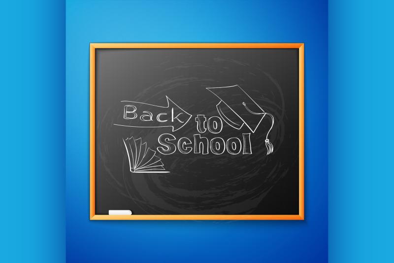 back-to-school-written-on-blackboard
