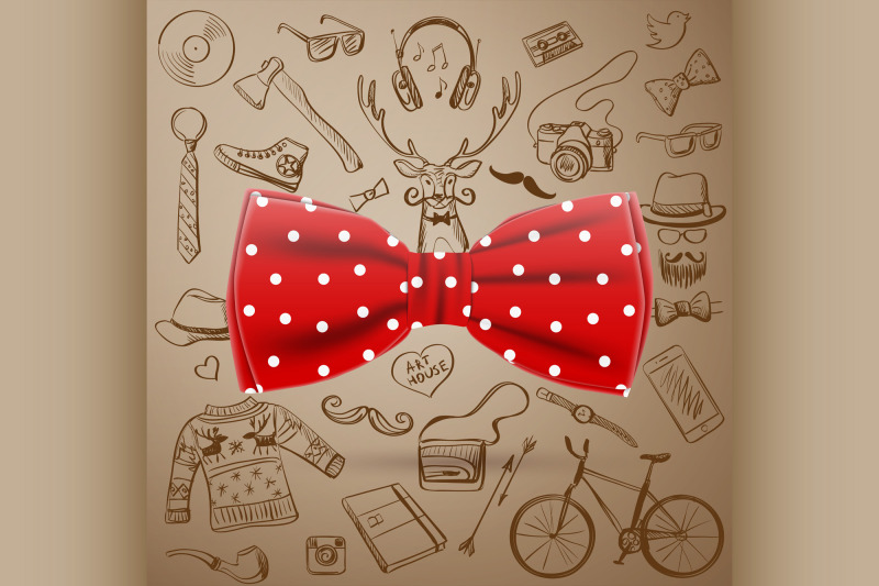 the-bow-tie-with-hand-drawn-hipster-style-elements