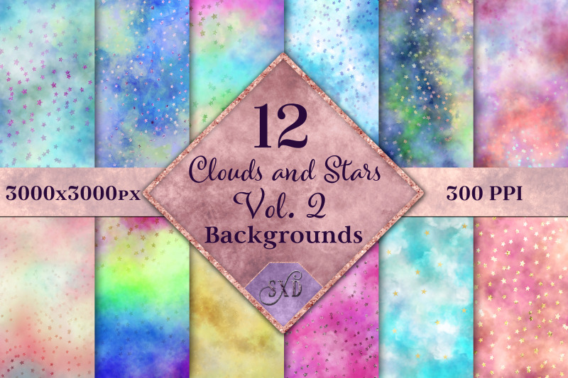 clouds-and-stars-vol-2-backgrounds-12-image-textures-set