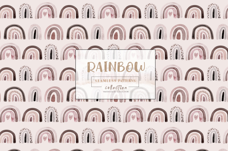 watercolor-rainbow-pattern-collection