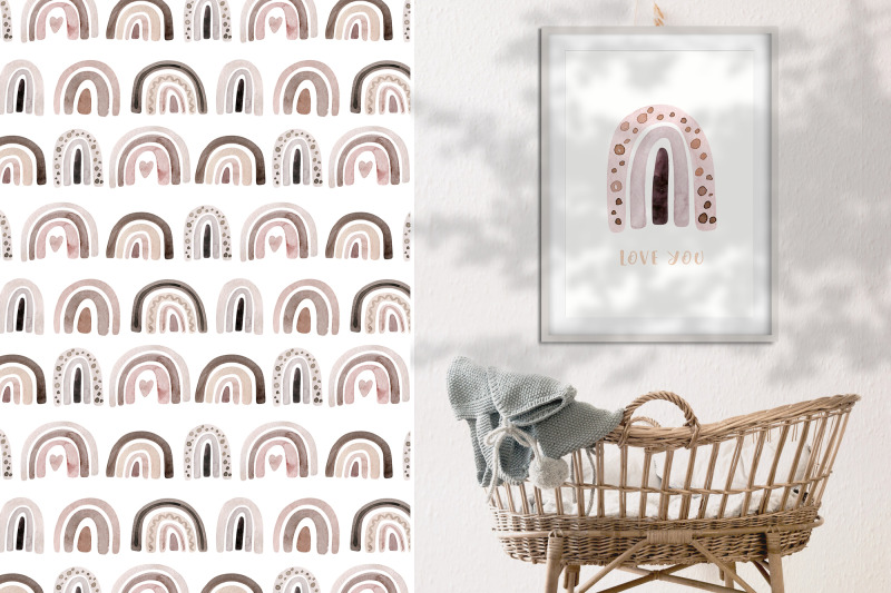 watercolor-neutral-beige-and-rose-rainbow-clipart