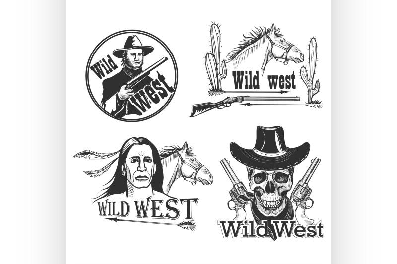 set-of-wild-west-emblems