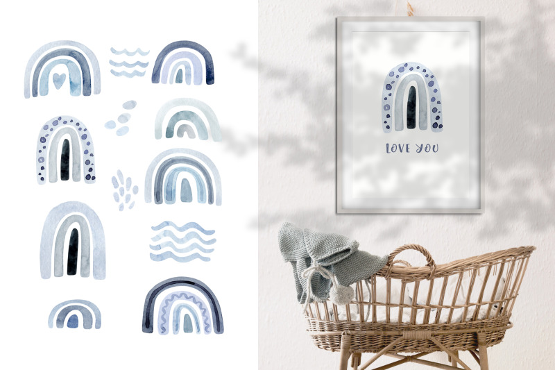 watercolor-neutral-blue-and-grey-rainbow-clipart