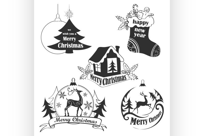 christmas-retro-icons-elements-and-illustrations-set