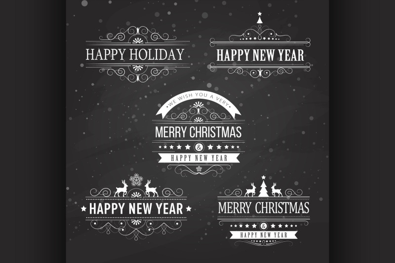 christmas-decoration-collection-of-calligraphic-and-typographic-elemen