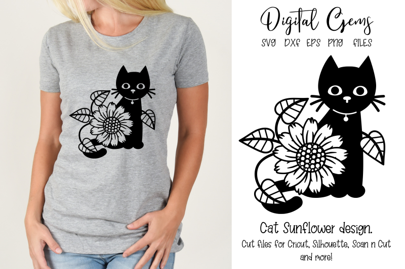 cat-sunflower-design