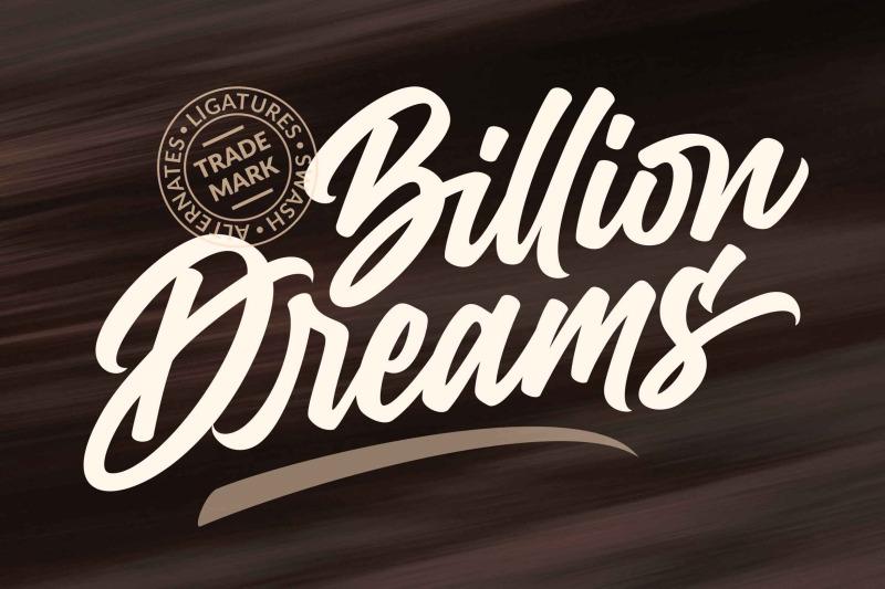 billion-dreams-urban-font