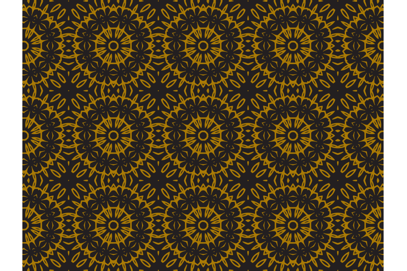 pattern-gold-ethnic-floral