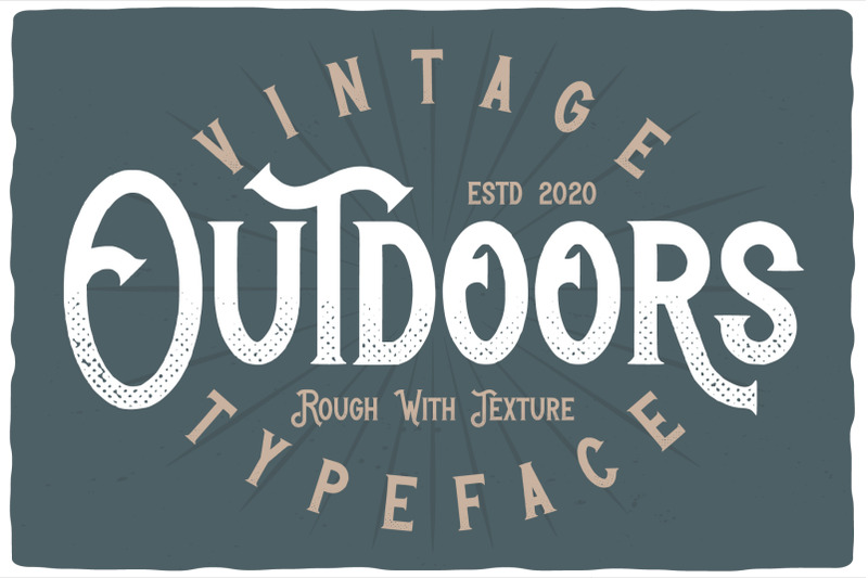 outdoors-layered-font