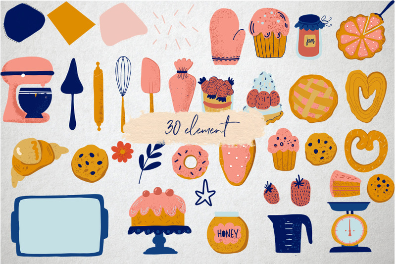 home-baking-vector-set