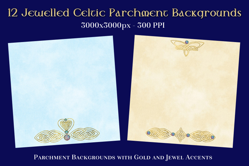 12-jewelled-celtic-parchment-backgrounds-textures-set