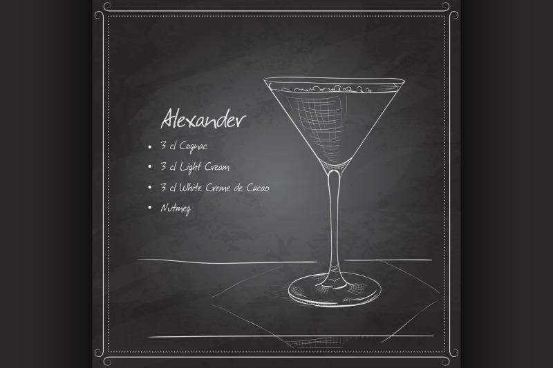coctail-alexandr-on-black-board