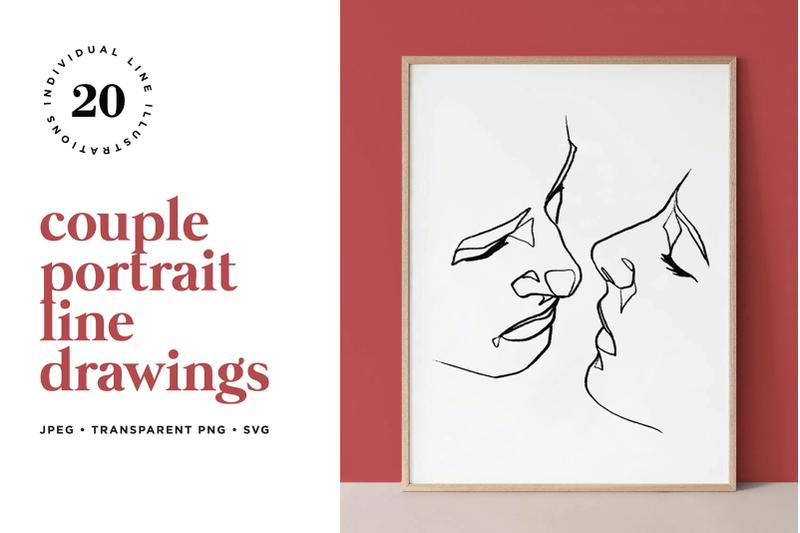 abstract-couple-portrait-line-art