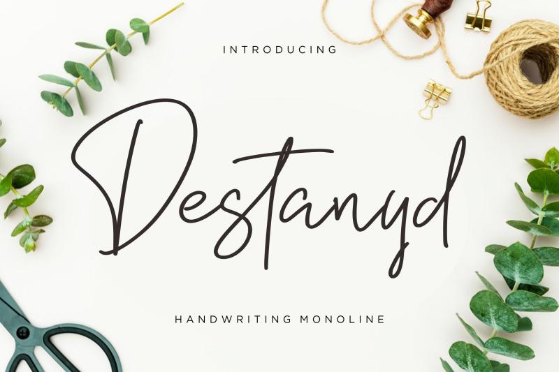 destanyd-handwriting-monoline