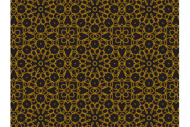 pattern-gold-regular-flower-ornaments