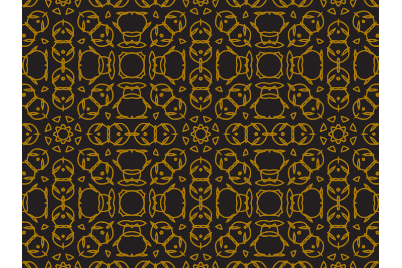 pattern-gold-square-abstract-ornaments