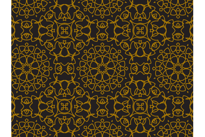pattern-gold-luxurious-regular-circle-style
