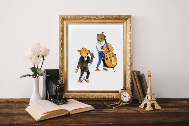 cute-bears-musicians-cliparts