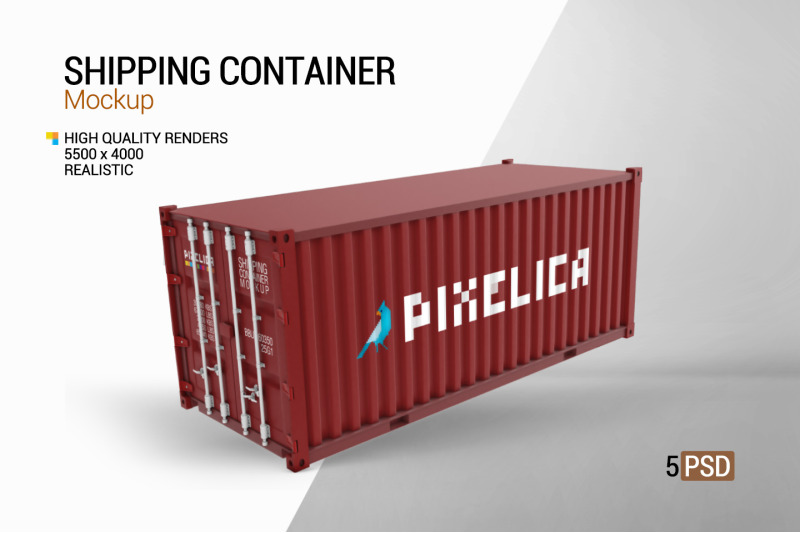 Download Shipping Container Mockup Free Mockups