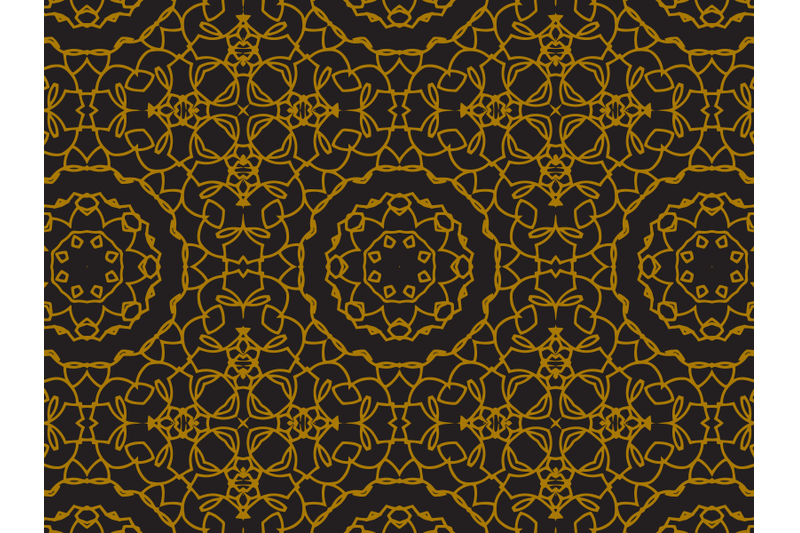 pattern-gold-circle-and-cross-style