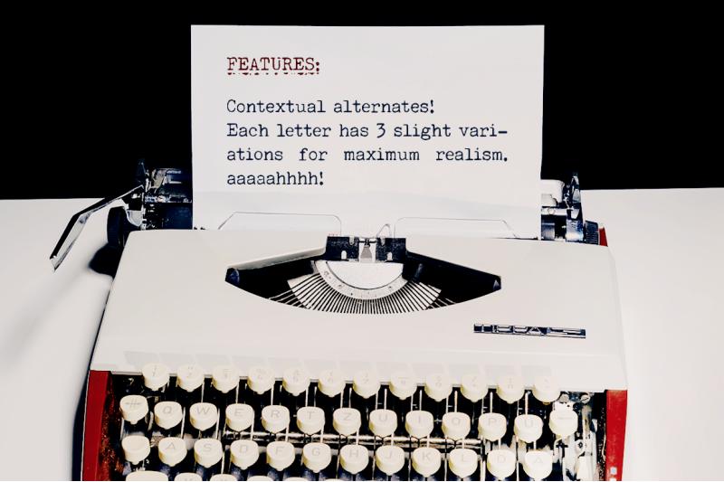 secretary-typewriter-font