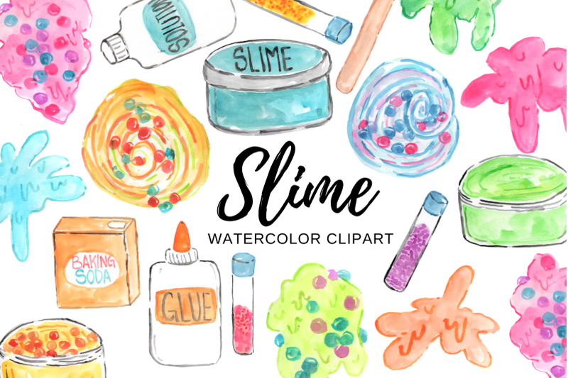 watercolor-slime-clipart