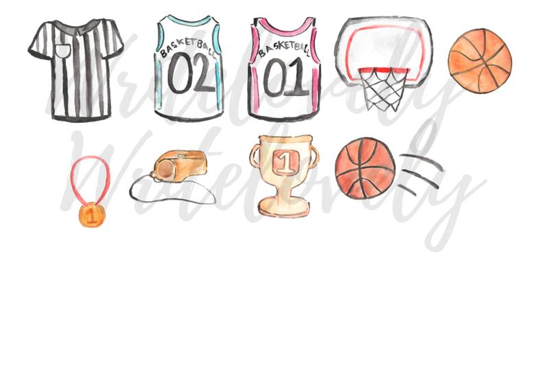 watercolor-basketball-clipart