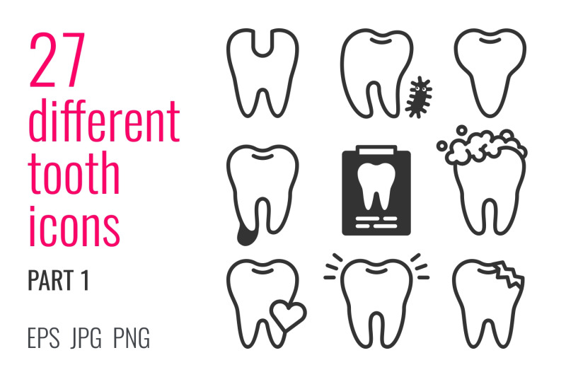 27-different-tooth-icons