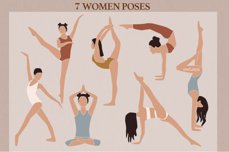 woman-and-yoga-abstract-collection
