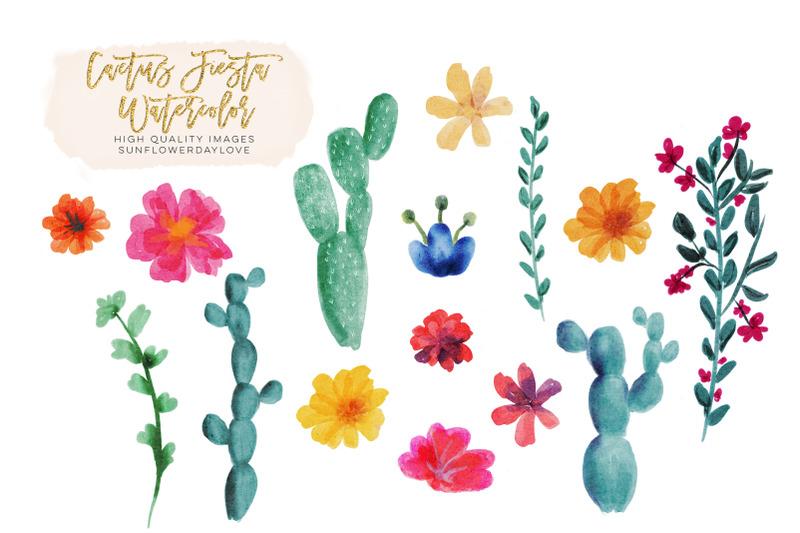 floral-cactus-mexican-fiesta-clip-art