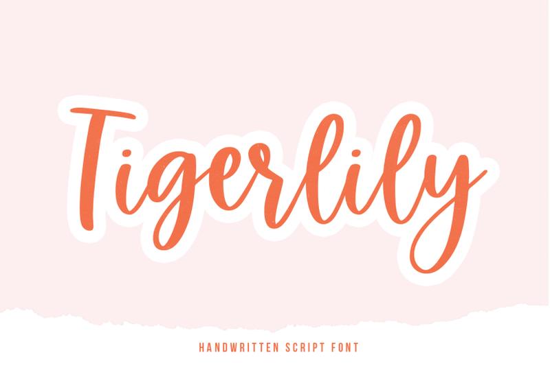 tigerlily-handwritten-script-font