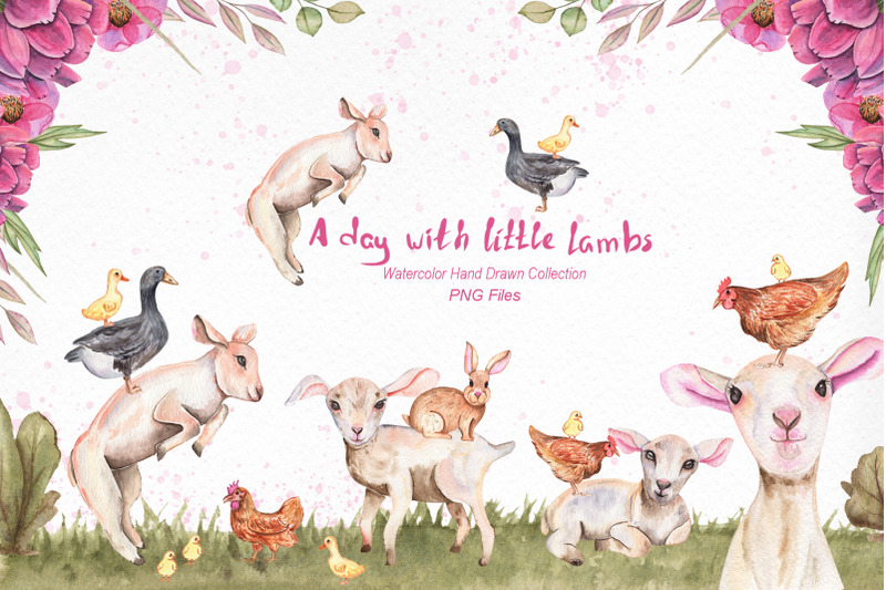 watercolor-day-with-little-lambs